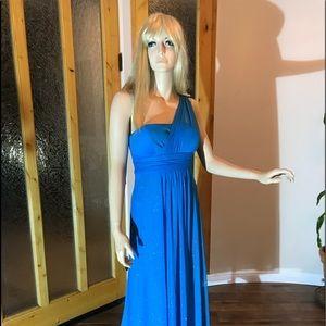 Women's Size 6 Sparkling Blue Gown.